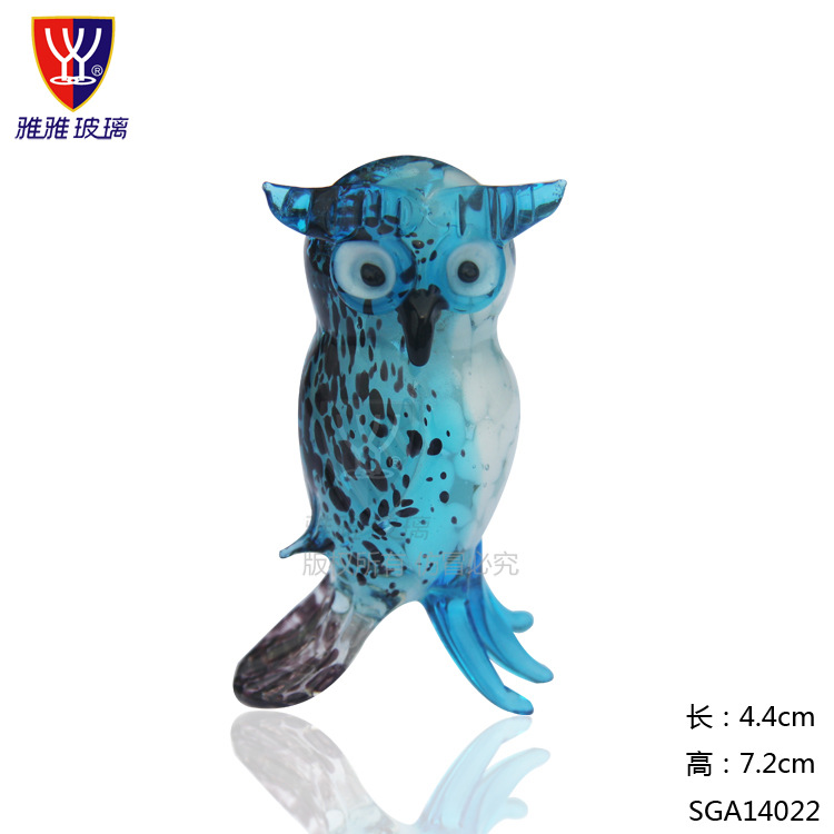 Oselif handmade 3d mascot owl glass crafts gift box wedding oselif handmade 3d mascot owl glass crafts gift box wedding decoration home decor business gifts in statues sculptures from home garden on junglespirit Gallery