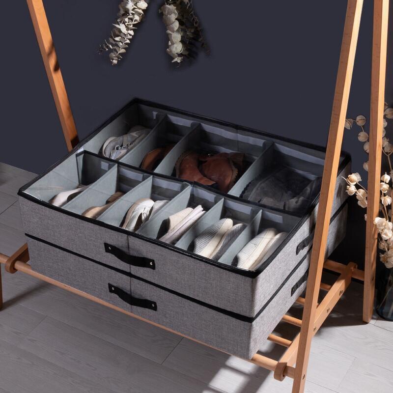 Luluhut organizador Dobrável para armazenamento de sapato caixa de sapatos Gaveta Transparente caixa de sapato sapato Casa caixas de armazenamento debaixo da cama de armazenamento