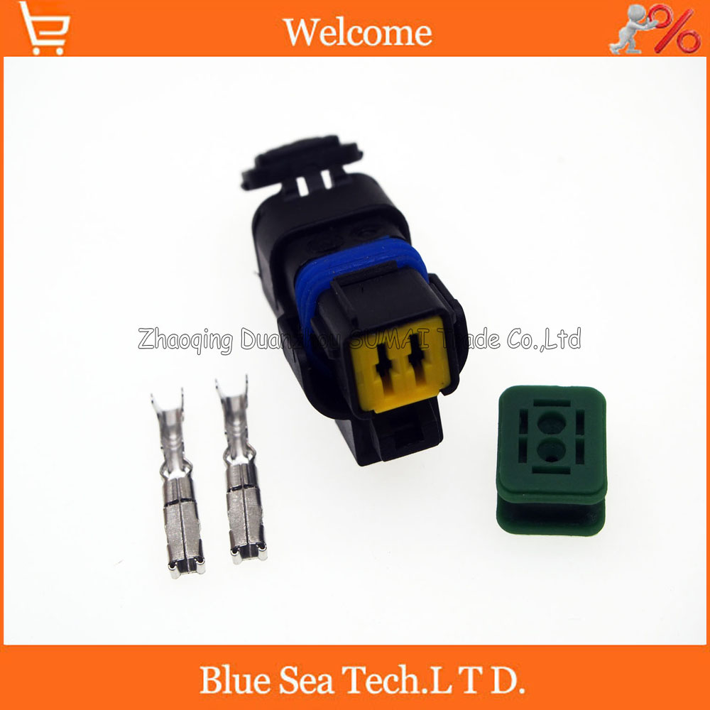 2Pin car female FO Turn light Plug FO lamp socket FCI Car Sensor connector for PEUGEOT