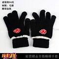 Anime Naruto Akatsuki Nube Roja Miembros símbolo Completo dedo handschoenen tejer guantes de invierno cálido de Felpa Envío gratis