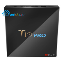 Get more info on the T10 Pro TV Box Amlogic S905X2 2.4G + 5G  4GB  64GB 32G USB3.0 4K VP9 Smart Tv BoxS PK H96 X96 WiFi BT4.1 Android 8.1