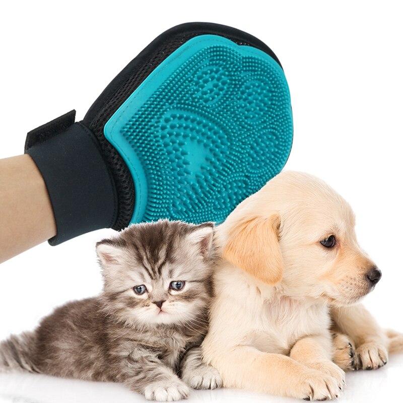 <font><b>Grooming</b></font> Glove For Animal Dog Combs <font><b>Hair</b></font> Cleaning <font><b>Brush</b></font> Comb For Dogs Cats Massage <font><b>Pet</b></font> Dog Cat <font><b>Remover</b></font> <font><b>Bath</b></font> Glove Supply 30