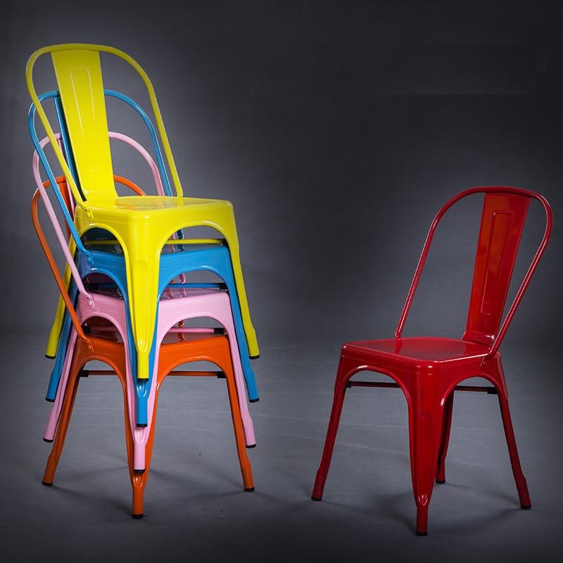 Vintage Modern Industrial outdoor Metal cafe Dining Chair