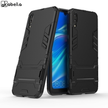 AKABEILA For Armor Case Huawei Y7 Pro 2019 Shockproof Robot Silicone Rubber Hard Back Phone Cover 6.26