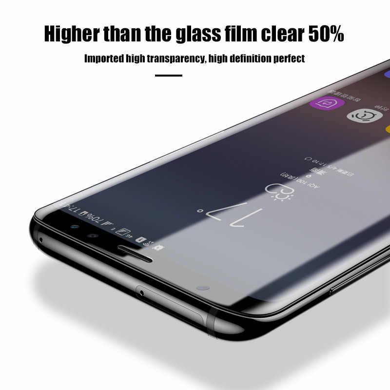 50 قطعة 3D لينة فيلم PET لسامسونج غالاكسي S10 S10e S9 S8 زائد S7 حافة ملاحظة 10 8 9 واقي للشاشة واقية لا الزجاج المقسى