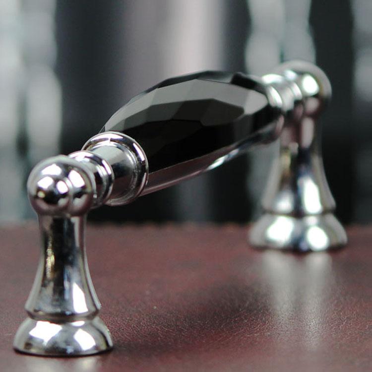 64mm Crystal Handle Modern Minimalist Shoe Drawer Cabinet Door Handle Double Diamond 64mm Handles