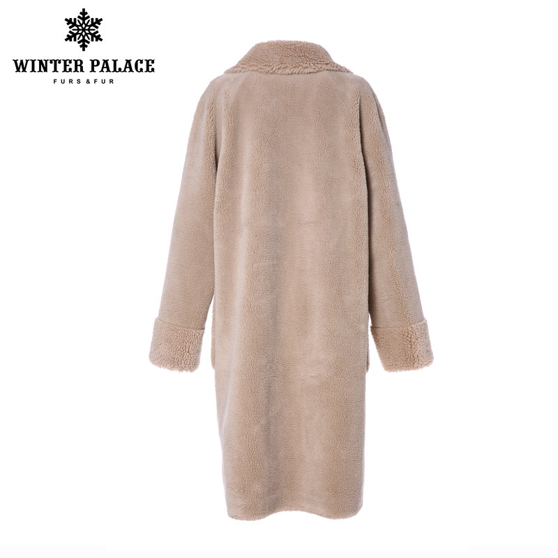 Pałac zimowy 2019 kobiet nowy płaszcz z wełny długi garnitur kołnierz z 30% wełna zima ciepły klasyczny styl futra płaszcz z wełny mieszanka wielu C w Prawdziwe futro od Odzież damska na  Grupa 3