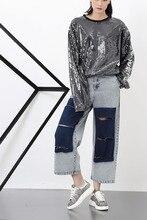 Мелинда Стиль 2016 новых мужчин модные джинсы лодыжки длина брюки бесплатная доставка
