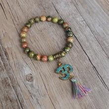Tibetan Buddhism Chakra Stone Tassel Bracelet