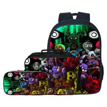 59be7971dfb1 3pcs set Fashion Cartoon Five Night At Freddy Children Backpacks Student  Suit Bag Kids Baby School Bags Boys Schoolbag for Girls