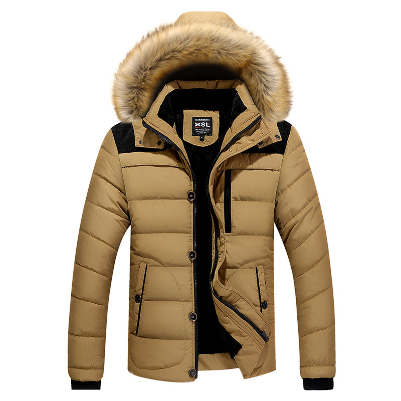 цены Winter Jacket Men Casual Cotton Thick Warm Coat Men's Outwear Parka Plus Size 4XL Coats Windbreak Snow Military Jackets M0380