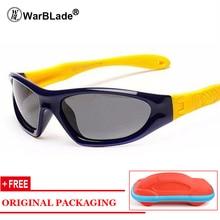 WarBLade Rubber Polarized Sunglasses Kids Candy Color Гибкие мальчики для девочек Солнцезащитные очки с защитным очком для глаз Oculos с футляром
