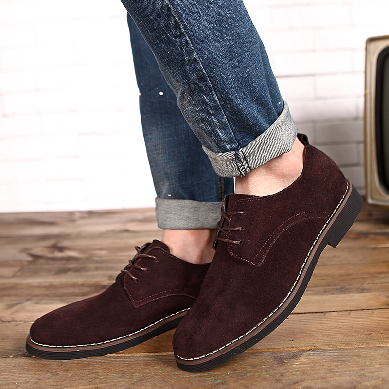 HTB17byzd.R1BeNjy0Fmq6z0wVXaE - Suede Leather Oxford Men's Casual Shoes-Suede Leather Oxford Men's Casual Shoes