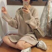 3 Colors Mihoshop Ulzzang Korean Korea Women Fashion Clothing V Collar Lazy Style Long Sleeve Sweater