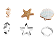 3pcs/set Ocean Creatures Cookie Cutters Shell Starfish Seahorse Shape Biscuits Fondant Tools