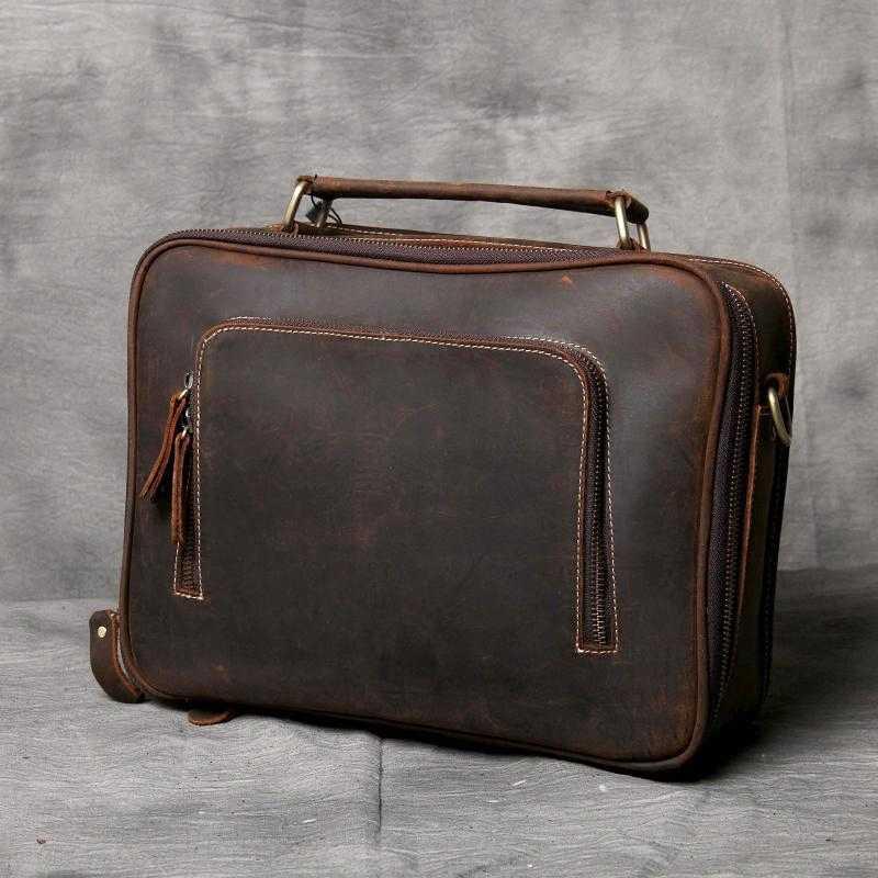 7112abd3e914 ... BJYL простой замша натуральная кожа Для мужчин портфель Повседневная  Дикий мужской сумка сумки ручной работы оригинальный ...