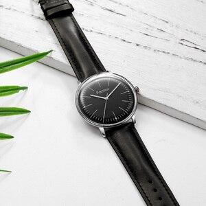 Image 4 - Fantor фирменные Классические минималистичные мужские кожаные светящиеся ручные повседневные деловые мужские кварцевые часы с коробкой