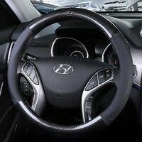 Car steering wheels cover 37 38cm 15 For Hyundai ELantra/i35 Sonata/i45 Creta/ix25 Tuscon/ix35 Accent Verna Solaris Santa Fe