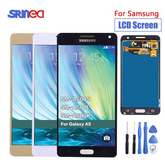 החלפת LCD עבור סמסונג גלקסי A5 2015 A500 A500F A500FU A500H A500M טלפון LCD תצוגת מסך מגע Digitizer 100% נבדק
