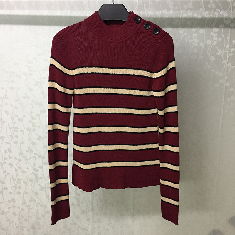 Striped Sweaters For Ladies 2019 Winter Autumn Women Knitted Pullovers long sleeve Jumpers Warm