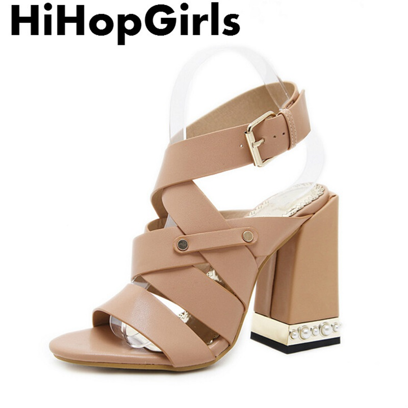 HiHopGirls Summer Rome Pointed Thick with Pumps