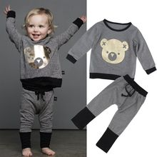 2pcs Toddler Infant Baby Kids Boy Girl SweatShirt +Pants Outfit Clothes Set Size 0-4