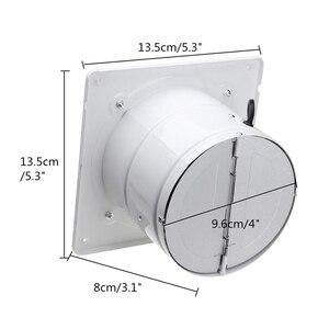 Image 5 - الحار! 4 بوصة 20 واط 220 فولت عالية السرعة مروحة العادم المرحاض المطبخ الحمام معلقة جدار زجاج النافذة التهوية الصغيرة النازع Exhaus