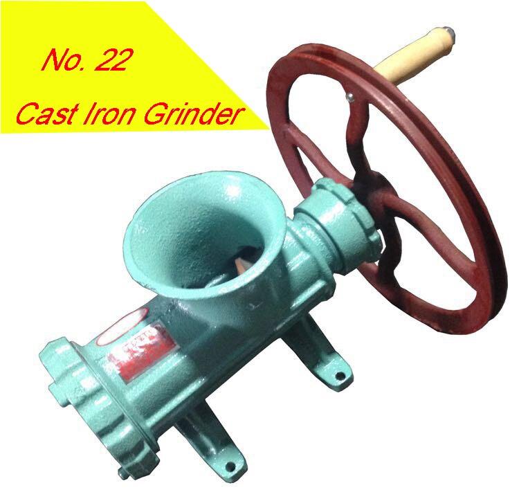 22 Cast Iron Handle Operating Meat Mincer Grinder Sausage Filler Manual Kitchen Meat Grinder Meat Grinder