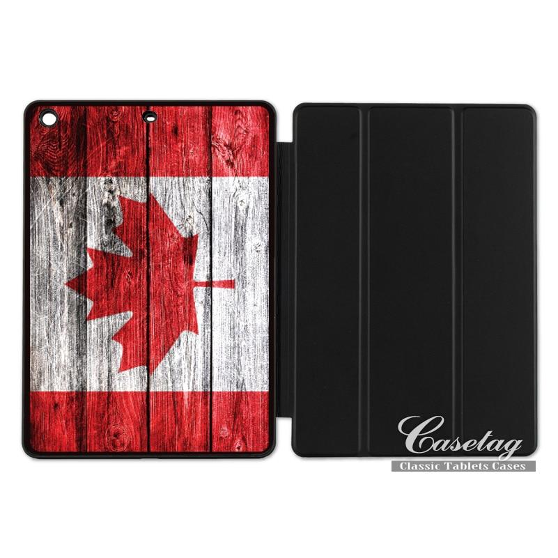 Canadian Canada Flag Smart Cover Case For Apple iPad 2 3 4 Mini Air 1 Pro 9.7 10.5 12.9  ...