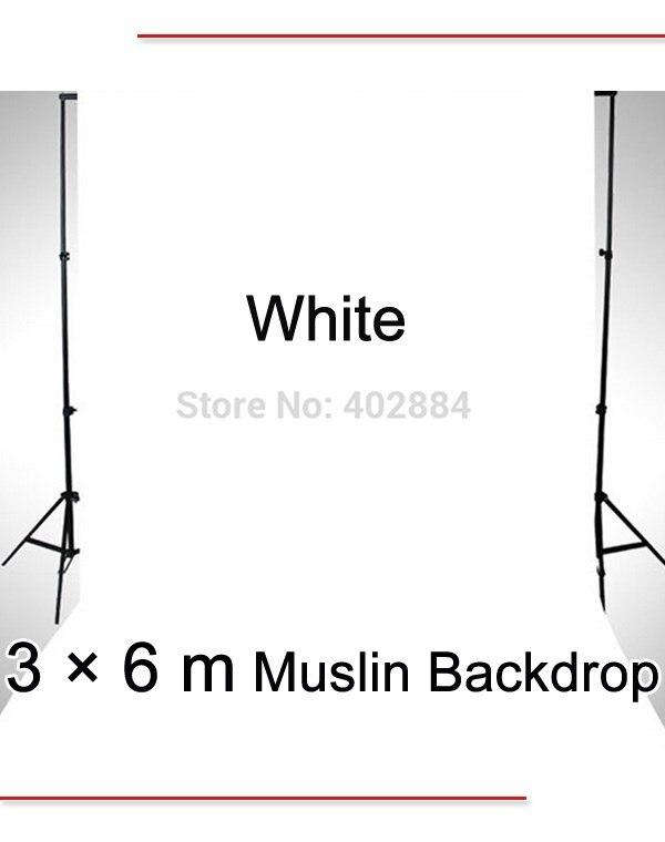 מס חינם לרוסיה מקצועי ציוד צילום 3*6M לבן תמונת רקע בד מוסלין רקע למכירה