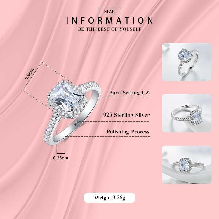 R & J серебро 925-й пробы кольца для женщин Свадебное Украшение бижутерия AAAAA циркония Винтаж интимные аксессуары Помолвочное кольцо бижутерия