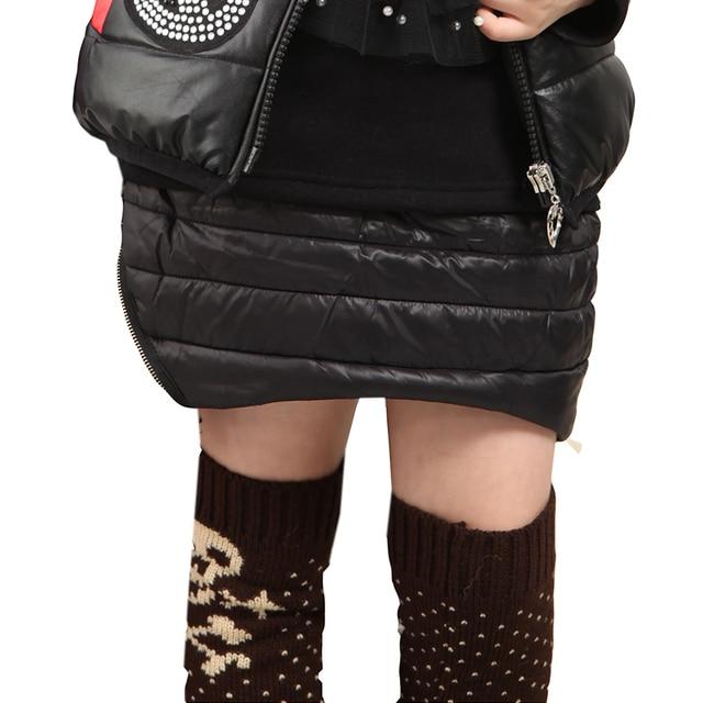 Winter Children'S Clothing Cotton-Padded Thick Black Casual Girls Skirts Good Quality Kids Skirt For Girls  Bottoms Saia Faldas