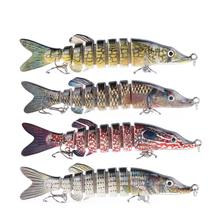 130mm/29g 8 Section Bionic Lures Baits Fishing Fake Bait lur