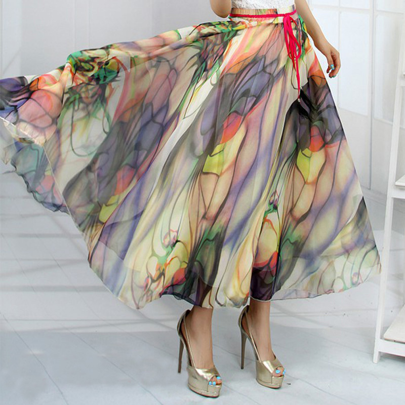 Online Buy Wholesale chiffon long skirt from China chiffon long ...