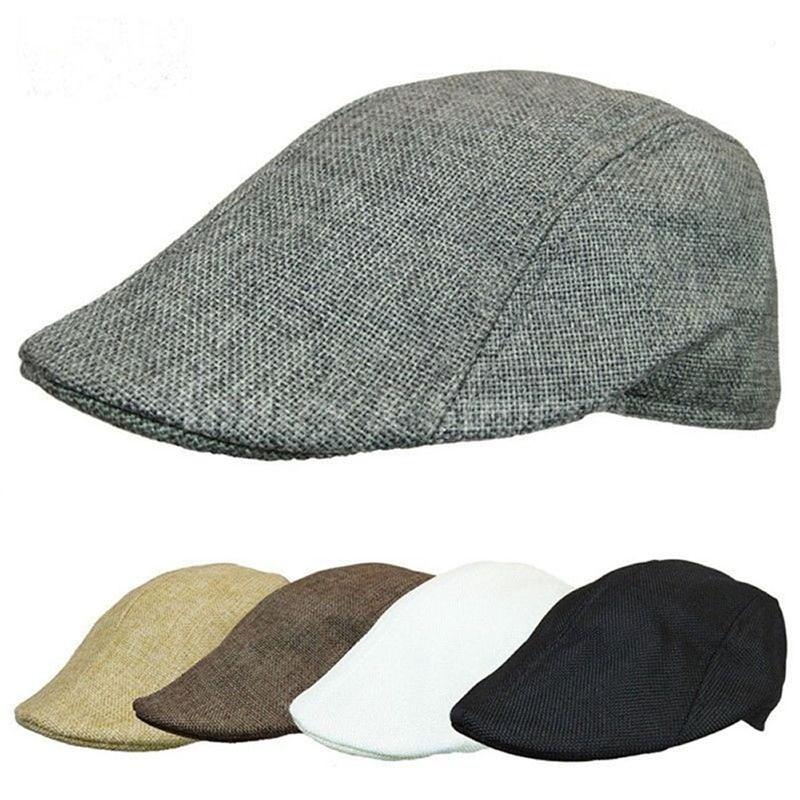 Mens Womens Duckbill Cap Ivy Cap Driving Sun Flat Cabbie Newsboy Hat Unisex Berets