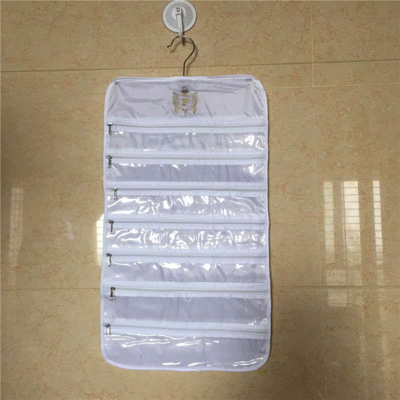 36 Pocket Polyester Hanging Storage Bags Wall Door Wardrobe Closet Accessories Necklace Bracelet Jewelry Holder Organizer Bag in Storage Bags from Home Garden