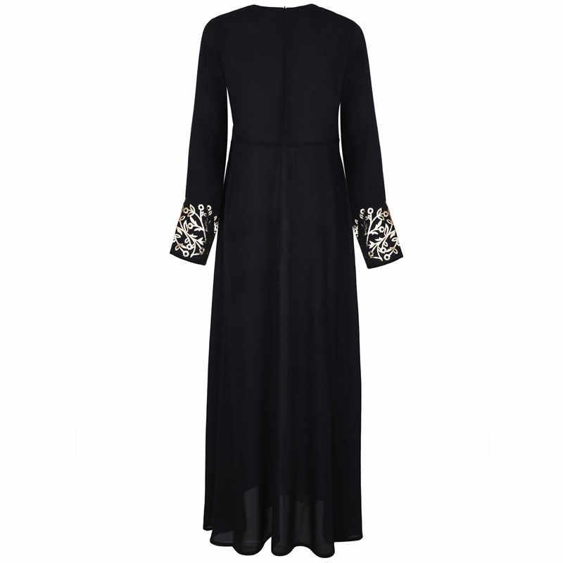 9bb63b5de7f45 Dubai Dresses Evening Abaya Maxi Dress Muslim Women Islamic Robe Kaftan  Moroccan Modest Dress