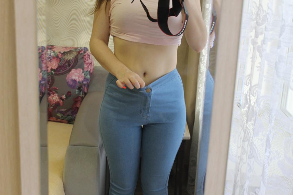 Women Stretch Black Skinny Jeans With High Waist Denim Blue Ladies Push Up White Jeans 35
