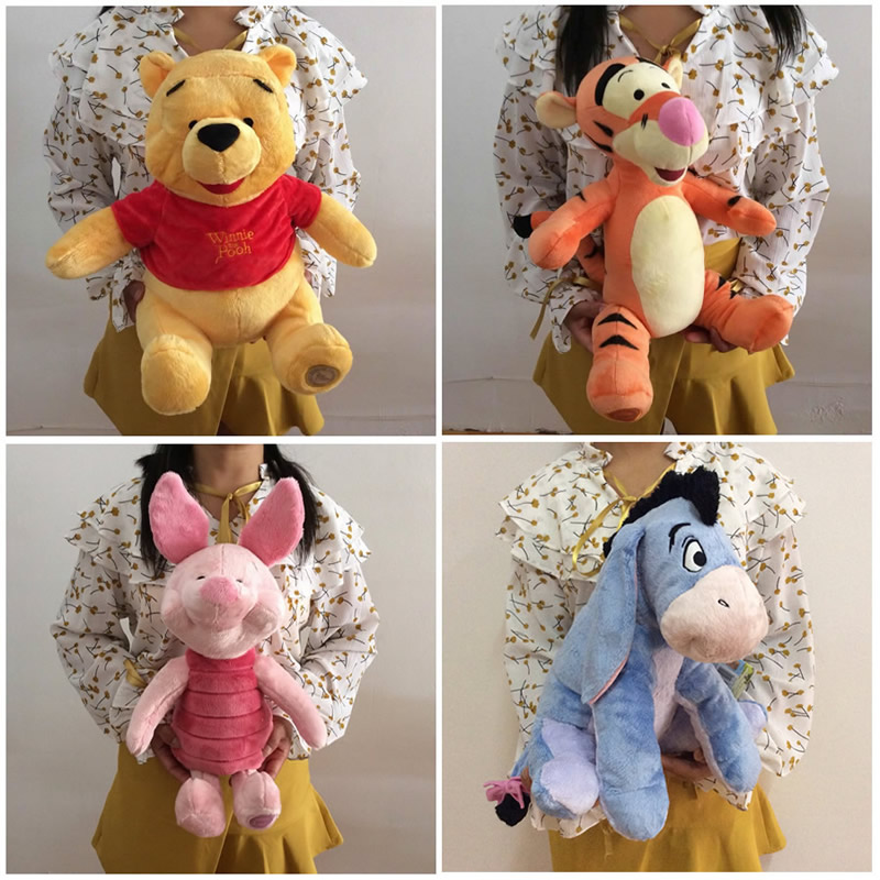 Free shipping Eeyore Donkey Winnie Bear Tigger Tiger Piglet Pig And Rabbit Roo Plush Toys Cute Stuffed Animals Kids Soft Doll free shipping new 4 pcs set family pig plush doll soft toy father and mother pig and george 7 8 19 30 cm retail page 2