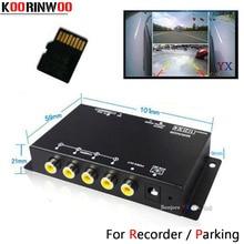 Koorinwoo панорамная система DVR коробка 4 канала для автомобиля заднего вида камера видео передняя сторона задняя камера парковочная помощь