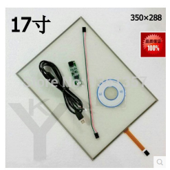 New 17 inch 4 wire resistive touch screen panel 350*288 free shipping