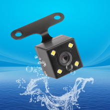for Car Dvr Mirror Recorders 4 Led Lamps Reverse Camera Night Vision HD CDD Rear View Camara Lens 2.5mm Jack with 6 Meters Cable
