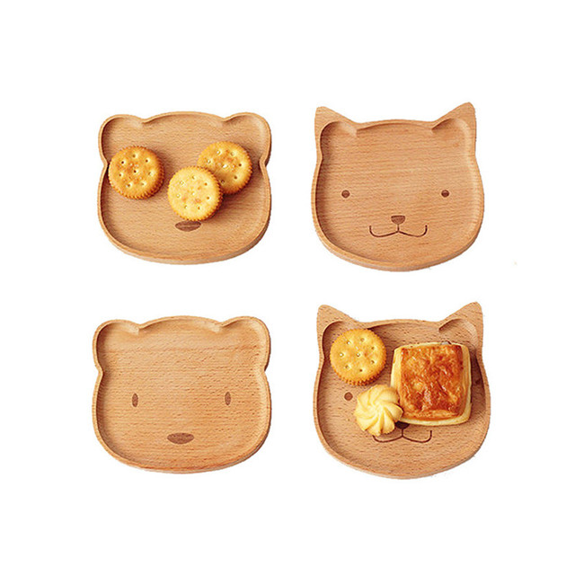 1pcs Cute Bear Face Wood Dinner Plate Kids Cartoon Pattern Food Fruit Dish Tray Child Baby  sc 1 st  AliExpress.com & 1pcs Cute Bear Face Wood Dinner Plate Kids Cartoon Pattern Food ...