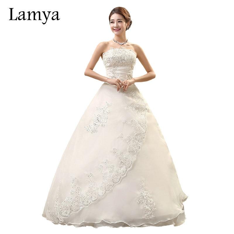 Real Photo Customized Princess Lace Wedding Dress 2019 Vintage Bridal Gowns Wedding Dress Plus Size Wedding Dress With Royal