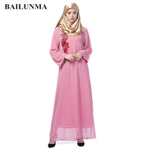 Embroidery kaftanChiffon muslim dress abaya islamic products turkish clothing dresses
