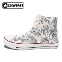 Unisex Hand Painted Sneakers Pegasus Wing Converse Chucks Taylor High Top Skateboarding Shoes Christmas Presents