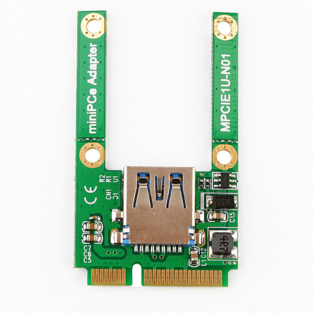 PCI E To USB 2.0 Connector Mini Accessories Professional Expansion Card Hub Adapter Slot Driver Add On For Computer Replacement