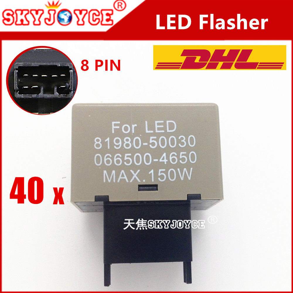 Automobiles & Motorcycles Car Lights Collection Here 40x Dhl Wholesale 81980-50030 066500-4650 8pin Led Flasher Relay Module Controller Turn Signals Electronic Led Flasher Unequal In Performance