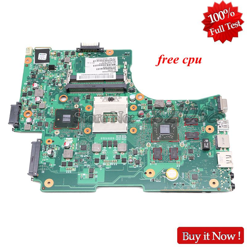 NOKOTION V000218020 Laptop Motherboard For Toshiba Satellite L650 L655 MAIN BOARD 6050A2332301 MB A02 HM55 DDR3