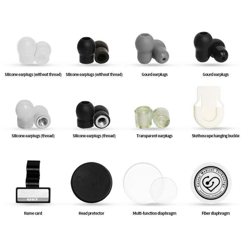 Carent 10 pairs lot Endurable Soft Silicone Earplugs diaphragm head protector name card eartip for Stethoscope